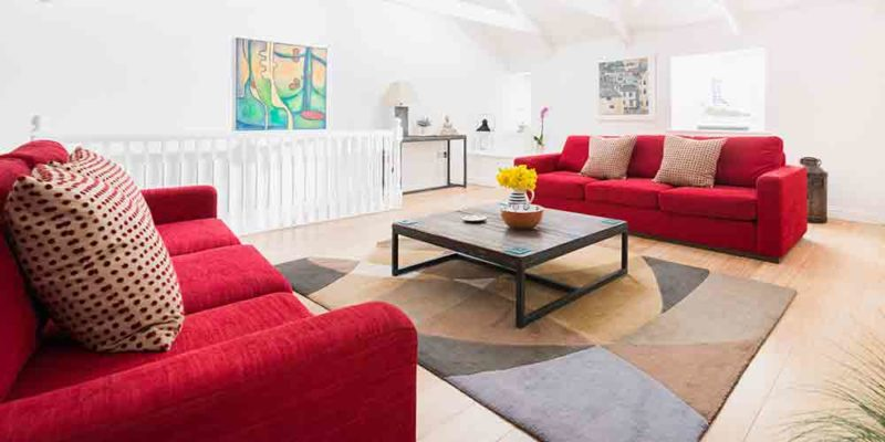 Luxury apartment in St Ives beside Porthmeor Beach.