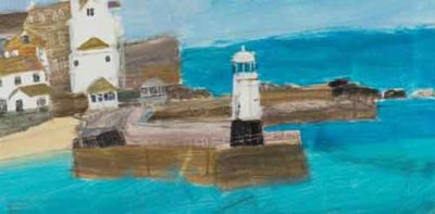 St Ives Emma Jeffryes Lighthouse painting Cornwall