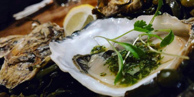 Oysters from one fish street St Ives