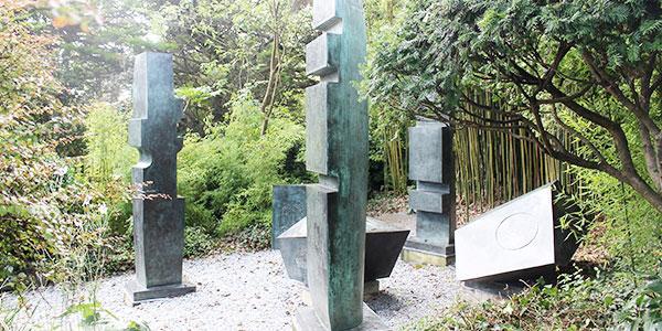 Hepworth sculpture garden in St Ives