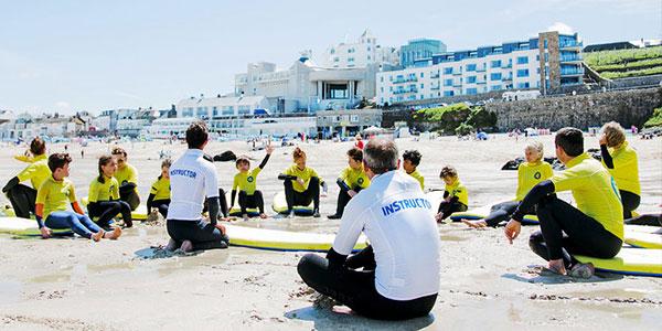 St Ives Surf School on Porthmeor Beach