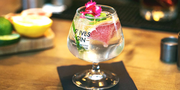 St Ives gin and tonic